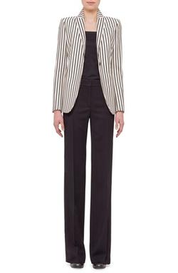 Akris Punto - One-Button Stripe Wool Jacket