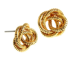 Diane von Furstenberg - Knotted Snake Chain Stud Earrings