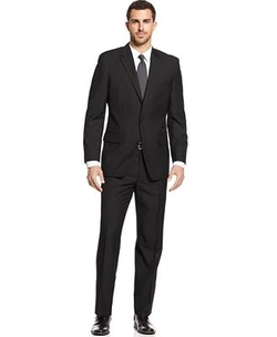 Alfani  - Black Solid Notch Lapel Suit