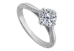 Love Bright Jewelry - Cubic Zirconia Engagement Ring