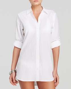 Tommy Bahama - Crinkle Cotton Boyfriend Shirt