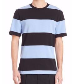 T By Alexander Wang - Engineered Stripe Short Sleeve Tee Shirt