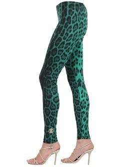 Roberto Cavalli Gym - Leopard Printed Lycra Jersey Leggings