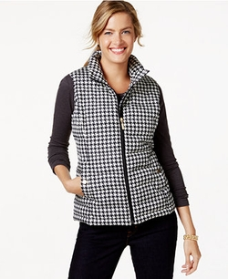 Charter Club - Quilted Checkered Vest