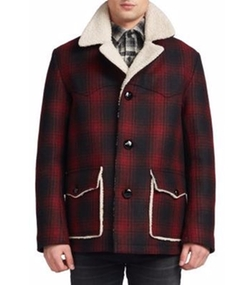 Saint Laurent - Faux-Shearling Lined Plaid Jacket