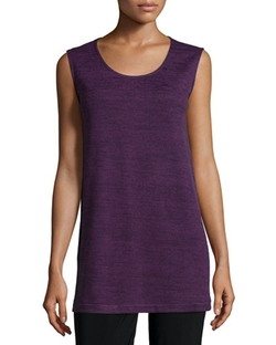 Caroline Rose - Sleeveless Brushed Sweater-Knit Tank, Women