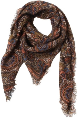 D&Y - Paisley Square Scarf