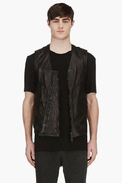 ALEXANDRE PLOKHOV - LEATHER FLIGHT VEST