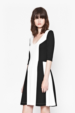 French Connection - Abney Jersey Flared Dress