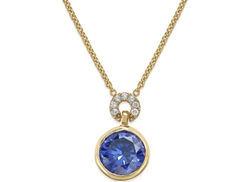 Kate Spade New York  - Round Crystal Pendant Necklace