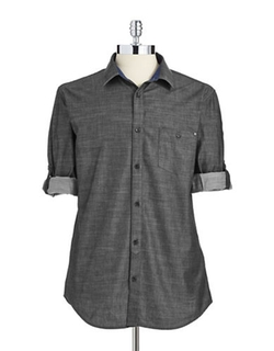 Calvin Klein - Solid Button-Down Shirt