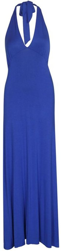 Xclusive Collection  - Sleeveless Halter Neck Long Jersey Maxi Dress
