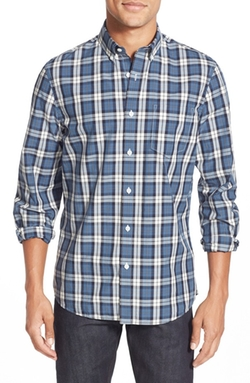 Nordstrom  - Trim Fit Long Sleeve Plaid Oxford Sport Shirt