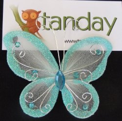 Tanday - Baby Blue Butterfly Hair Clip