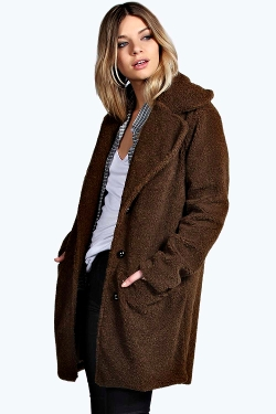 Boohoo - Teddy Wool Look Coat