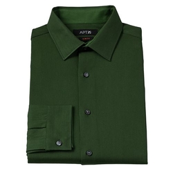 Apt. 9 - Solid Wrinkle-Resistant Spread-Collar Dress Shirt