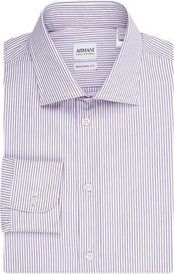 Armani Collezioni - Stripe Poplin Shirt