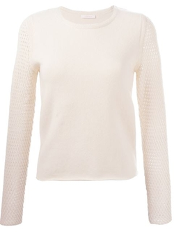 See By Chloé - Open Knit Sleeve Sweater