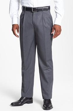 JB Britches  - Double Pleated Super 100s Worsted Wool Trousers