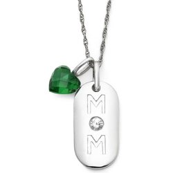 JCPenney - Sterling Silver Mom Dog Tag Pendant Necklace