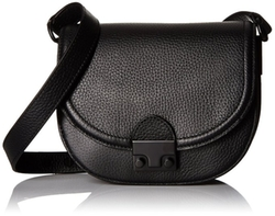 Loeffler Randall  - Saddle Tumbled Leather Saddle Crossbody Bag