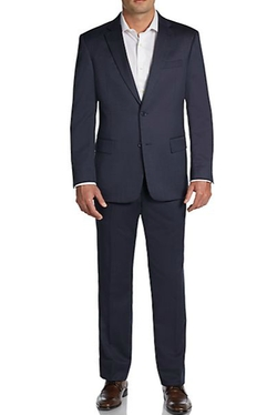 Tommy Hilfiger  - Trim-Fit Tic-Weave Worsted Wool Suit