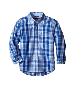 Tommy Hilfiger  - Kids Long Sleeve Marlin Plaid Shirt