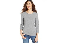 Karen Scott  - Luxsoft Long-Sleeve Crew-Neck Sweater