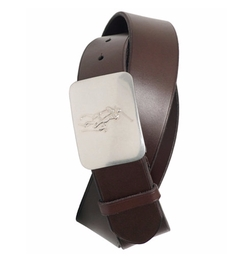 Polo Ralph Lauren - Vacchetta Leather Logo Plaque Belt