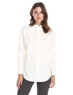 Lark & Ro - Mandarin-Collar Tunic Top