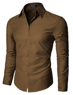 Doublju - Shinning Fabric Dress Shirts