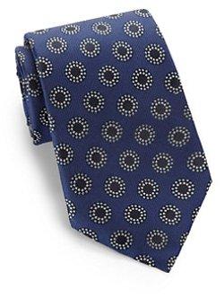 Armani Collezioni  - Dotted Oval Print Silk Tie