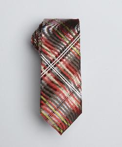 BEN SHERMAN  - Red, Yellow And Brown Silk