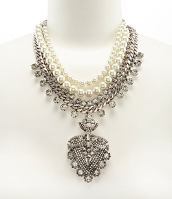 Belle Badgley - Mischka Rhinestone Statement Necklace