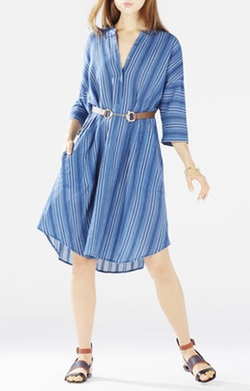 BCBGMAXAZRIA - Kieley Striped Shirt Dress