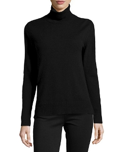 Neiman Marcus Cashmere Collection - Long-Sleeve Cashmere Turtleneck Sweater