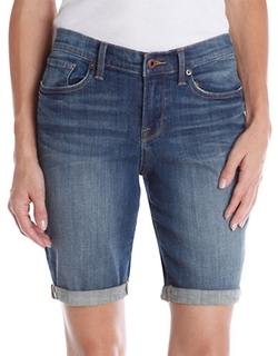 Lucky Brand  - Denim Roll-Cuff Bermuda Shorts