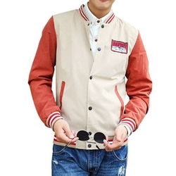 MNBS - Colorblock Varsity Baseball Jacket