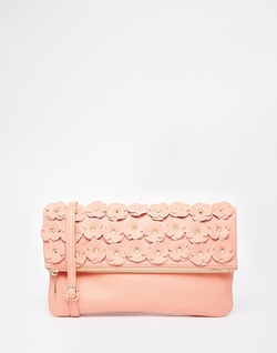 Yoki Fashion - Clutch Bag with Floral Detail