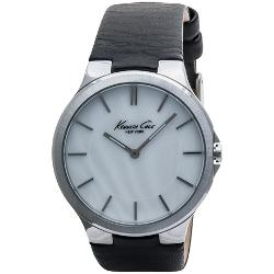 Kenneth Cole  - Slim Mother-of-Pearl Face Watch - Leather Strap