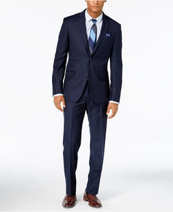 DKNY - Navy Solid Extra-Slim-Fit Suit