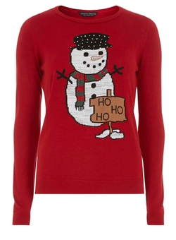 Dorothy Perkins - Red Snowman Jumper Sweater