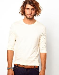 ASOS  - 3/4 Sleeve T-Shirt With Crew Neck