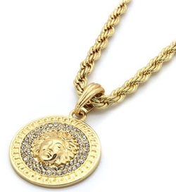 Jianyana  - Mens Medallion Pendant Necklace