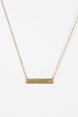 Urban Outfitters - Initial Bar Necklace