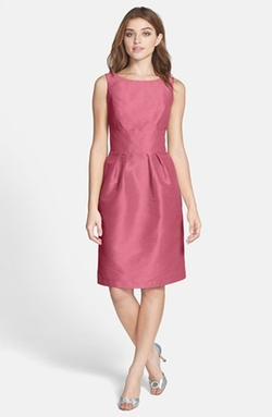Alfred Sung - Boatneck Sheath Dress