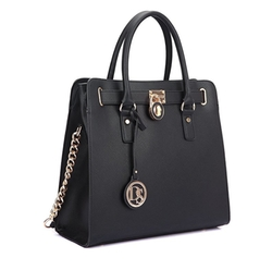 Dasein - Saffiano Leather Tote Bag