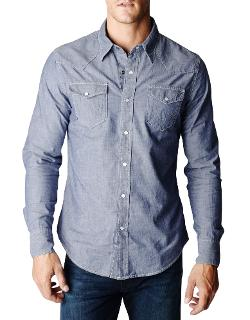 True Religion - Jake Chambray Western Mens Shirt