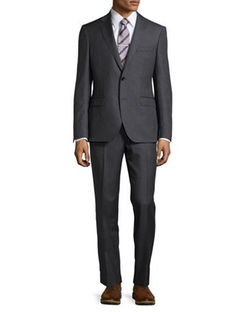 Neiman Marcus  - Modern-Fit Neat Two-Piece Suit