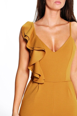 Boohoo - Joana One Shoulder Frill Jumpsuit